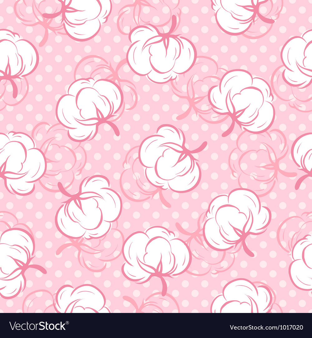 Seamless pattern with cotton buds vector | Price: 1 Credit (USD $1)