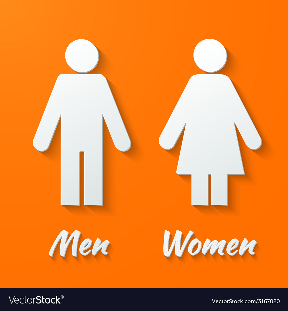 Signs - male female wc vector | Price: 1 Credit (USD $1)