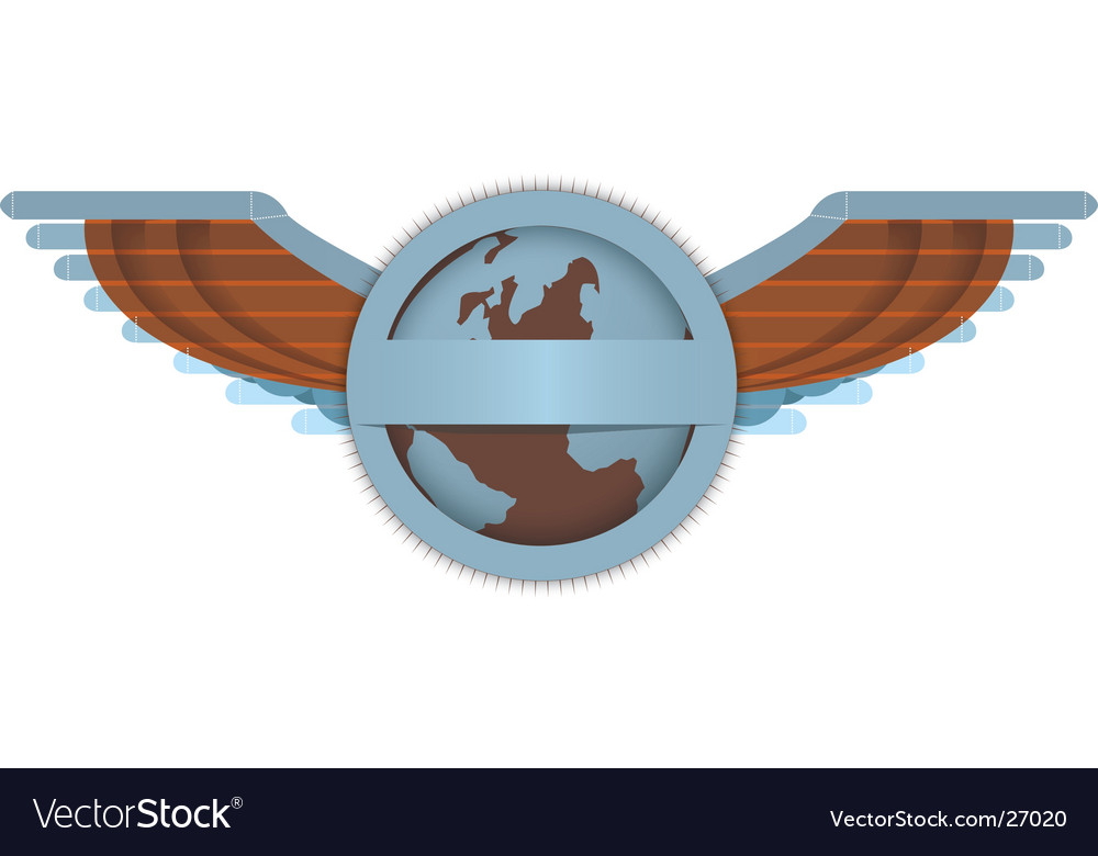 Wings and globe vector | Price: 1 Credit (USD $1)