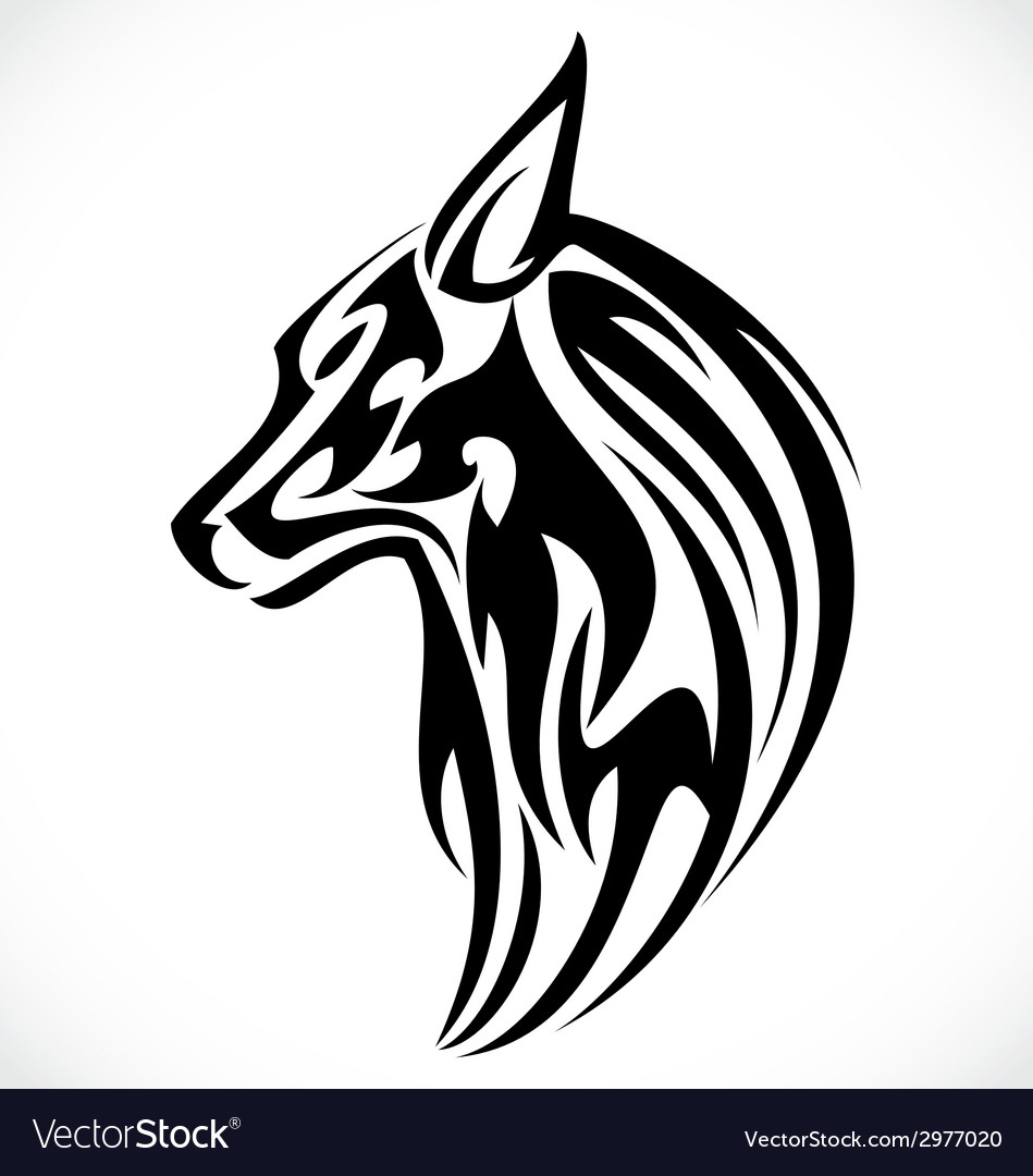 Wolf tattoo design vector | Price: 1 Credit (USD $1)