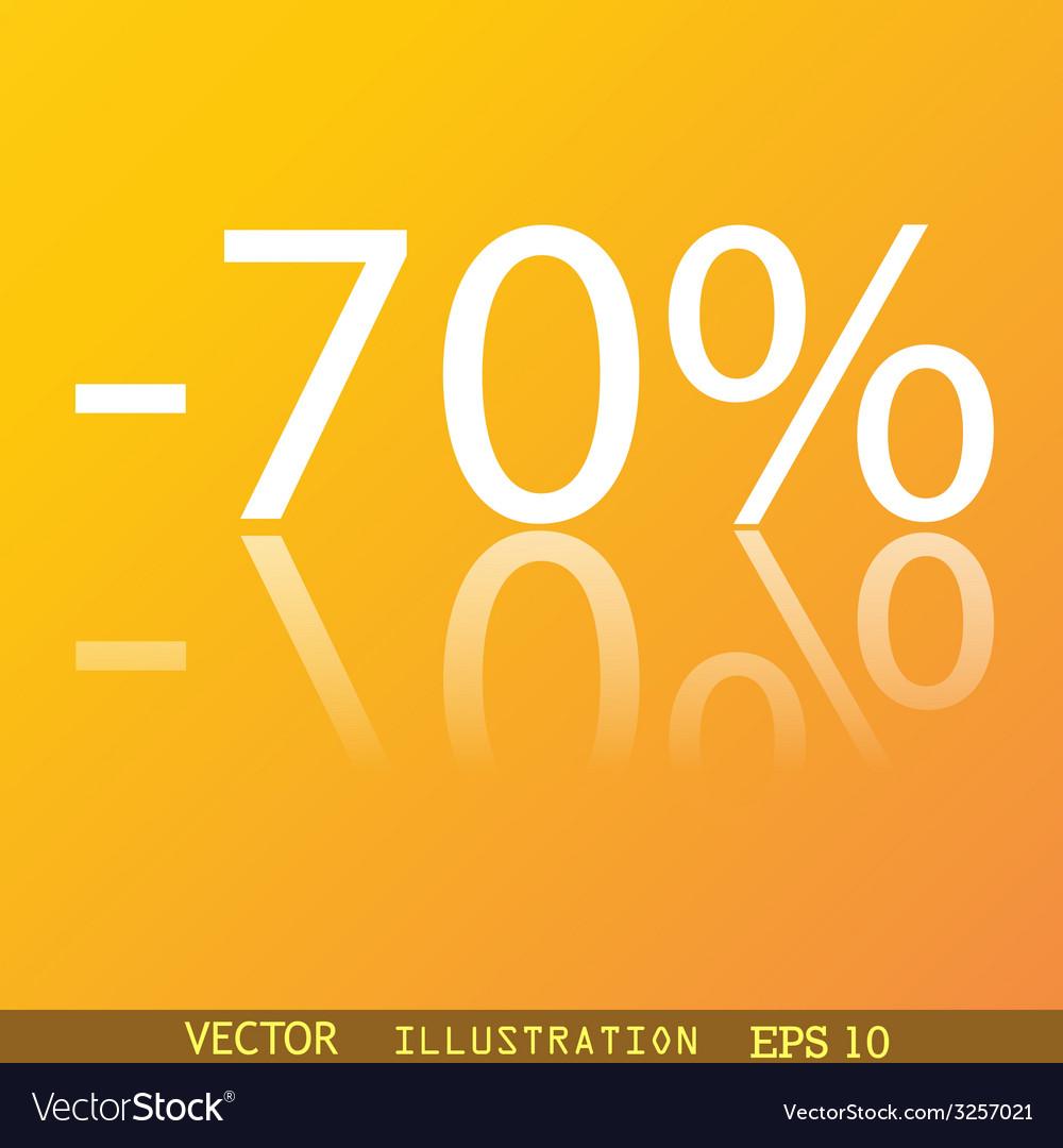 70 percent discount icon symbol flat modern web vector | Price: 1 Credit (USD $1)