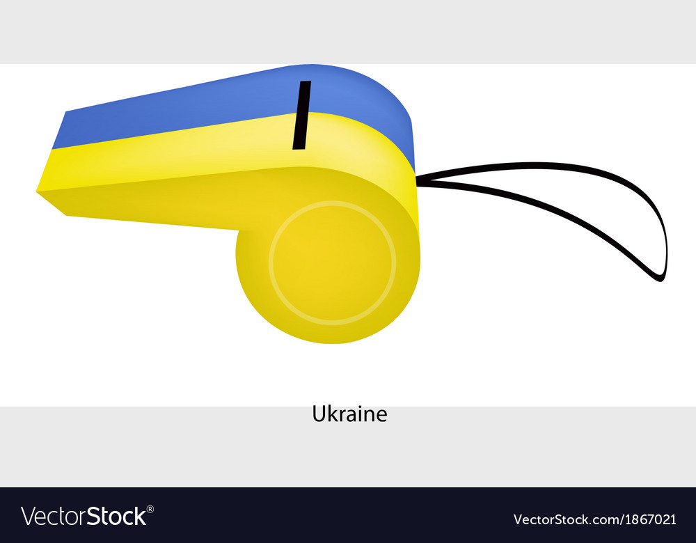 A blue and yellow whistle of ukraine vector | Price: 1 Credit (USD $1)