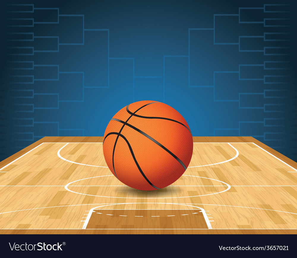 Basketball bracket court and ball vector | Price: 3 Credit (USD $3)