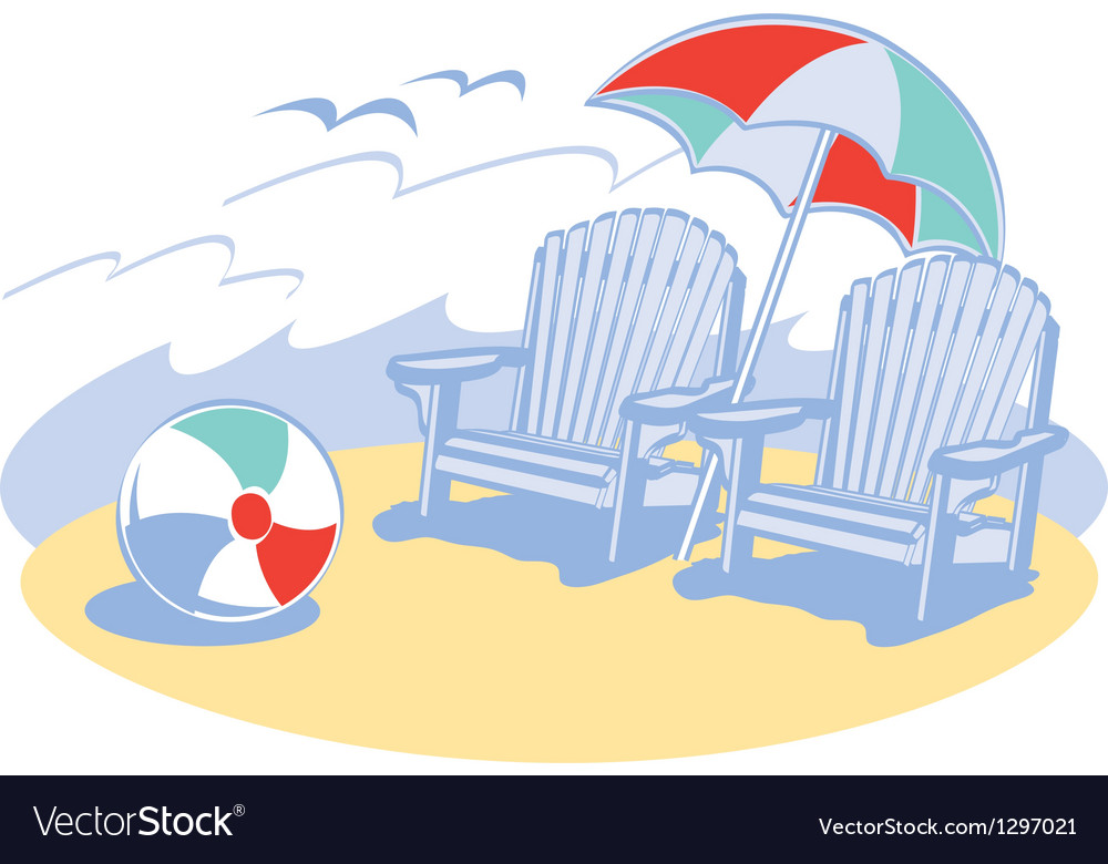 Beach chair vector | Price: 1 Credit (USD $1)