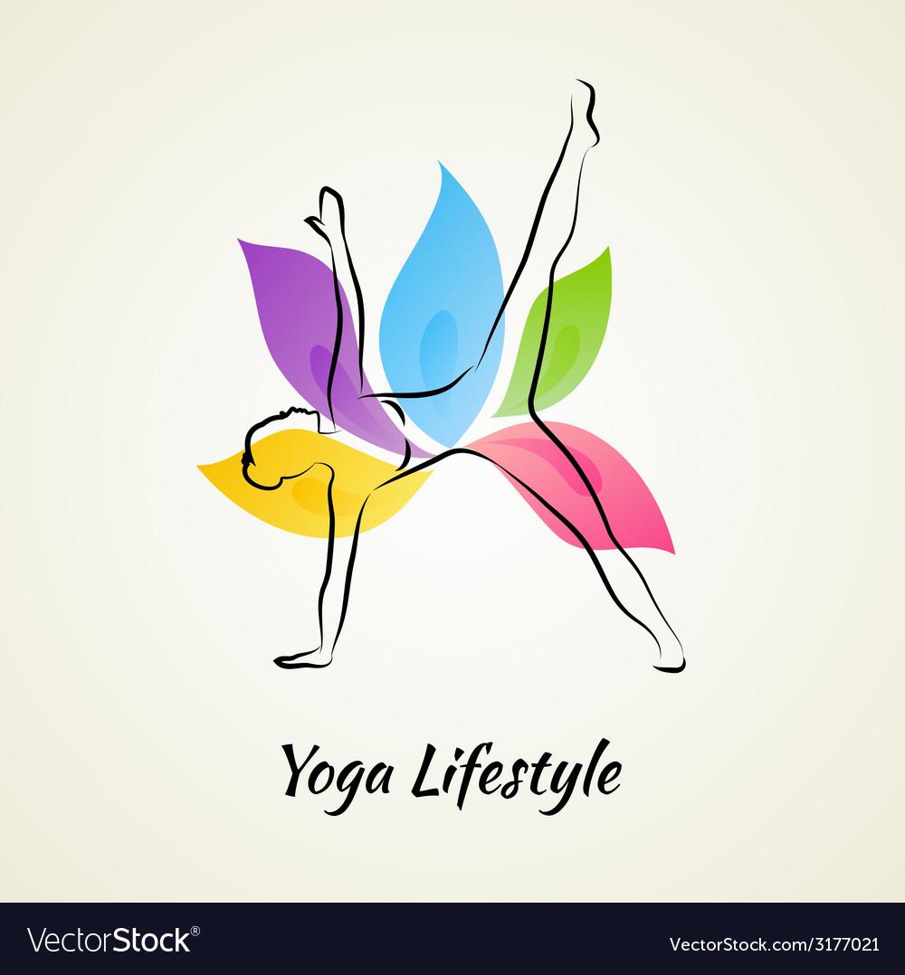 Beautiful woman doing yoga vector   Price: 1 Credit (USD $1)