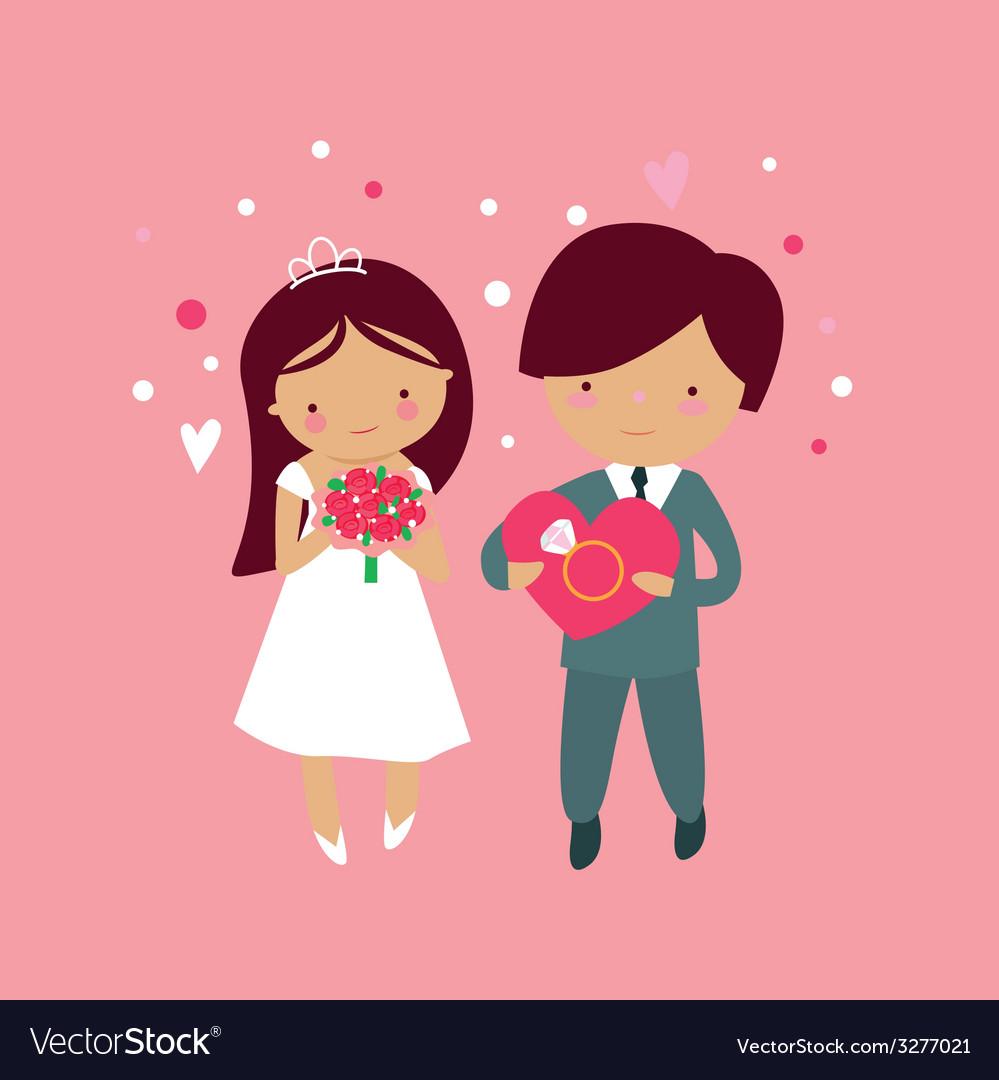 Cute wedding vector | Price: 1 Credit (USD $1)