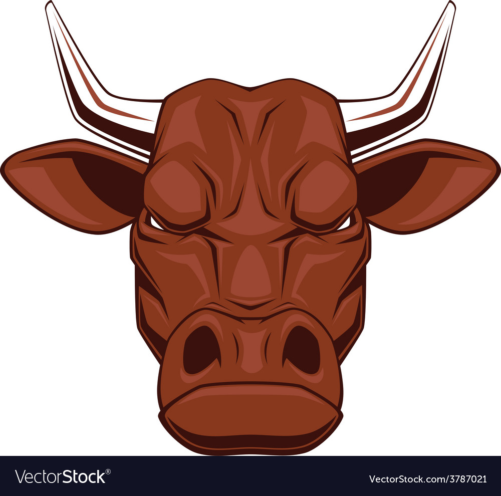 Ferocious bull vector | Price: 1 Credit (USD $1)