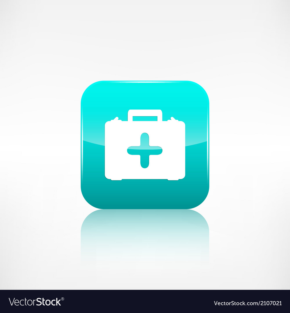 First aid kit icon application button vector | Price: 1 Credit (USD $1)