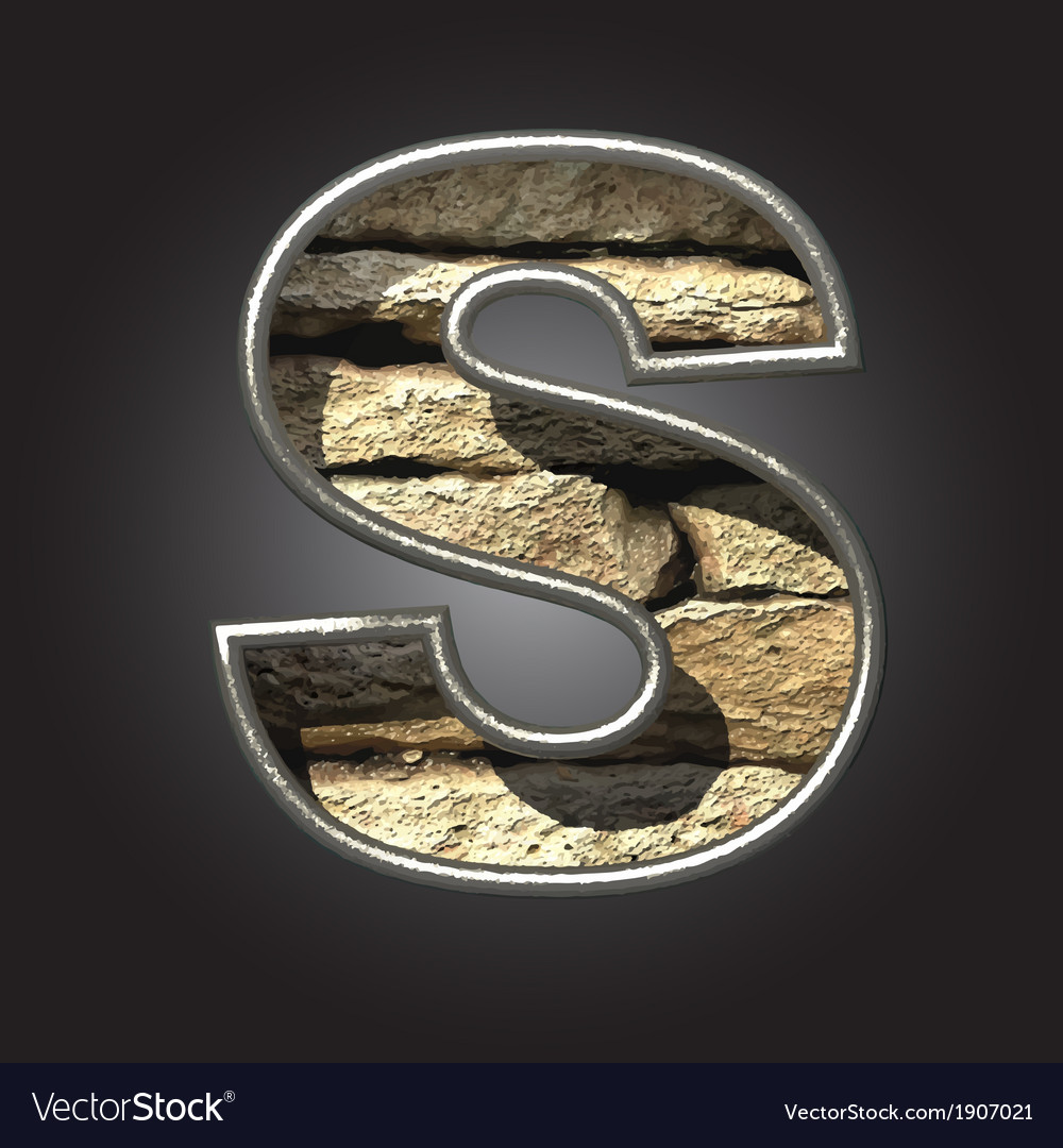 Old stone letter s vector | Price: 1 Credit (USD $1)