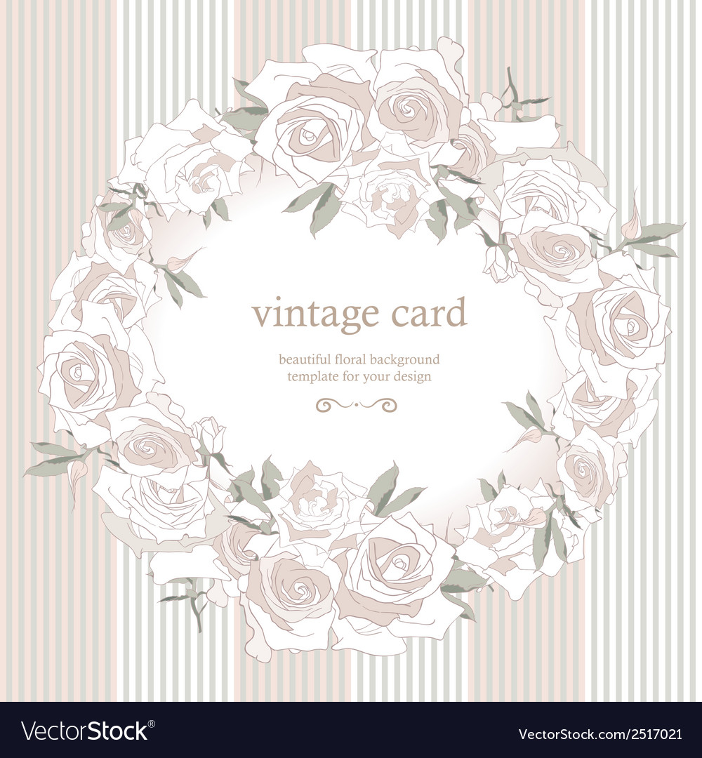 Save the date floral card vector | Price: 1 Credit (USD $1)