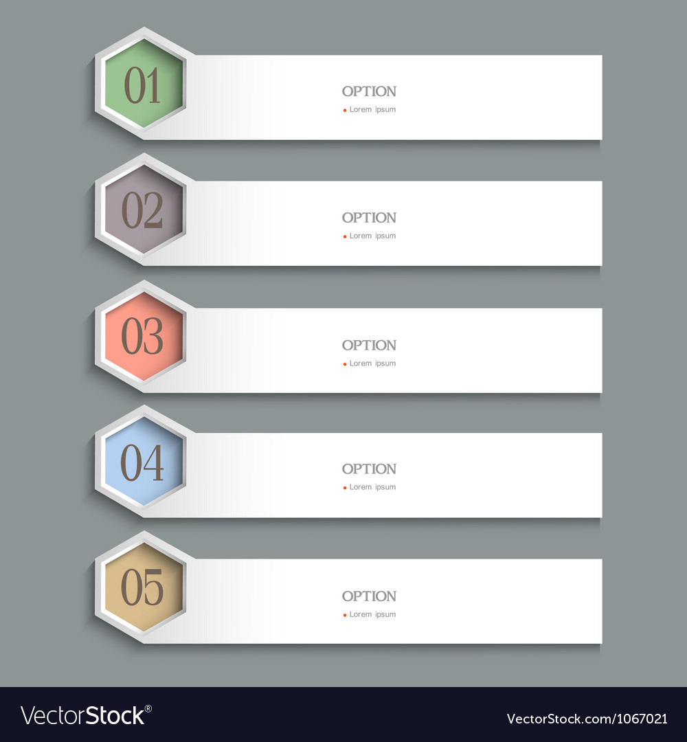 White horizontal design template vector | Price: 1 Credit (USD $1)