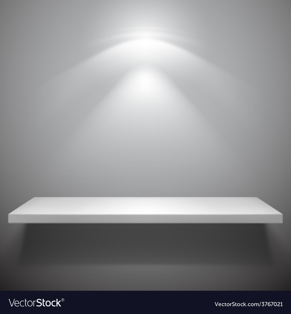 White shelf vector | Price: 1 Credit (USD $1)