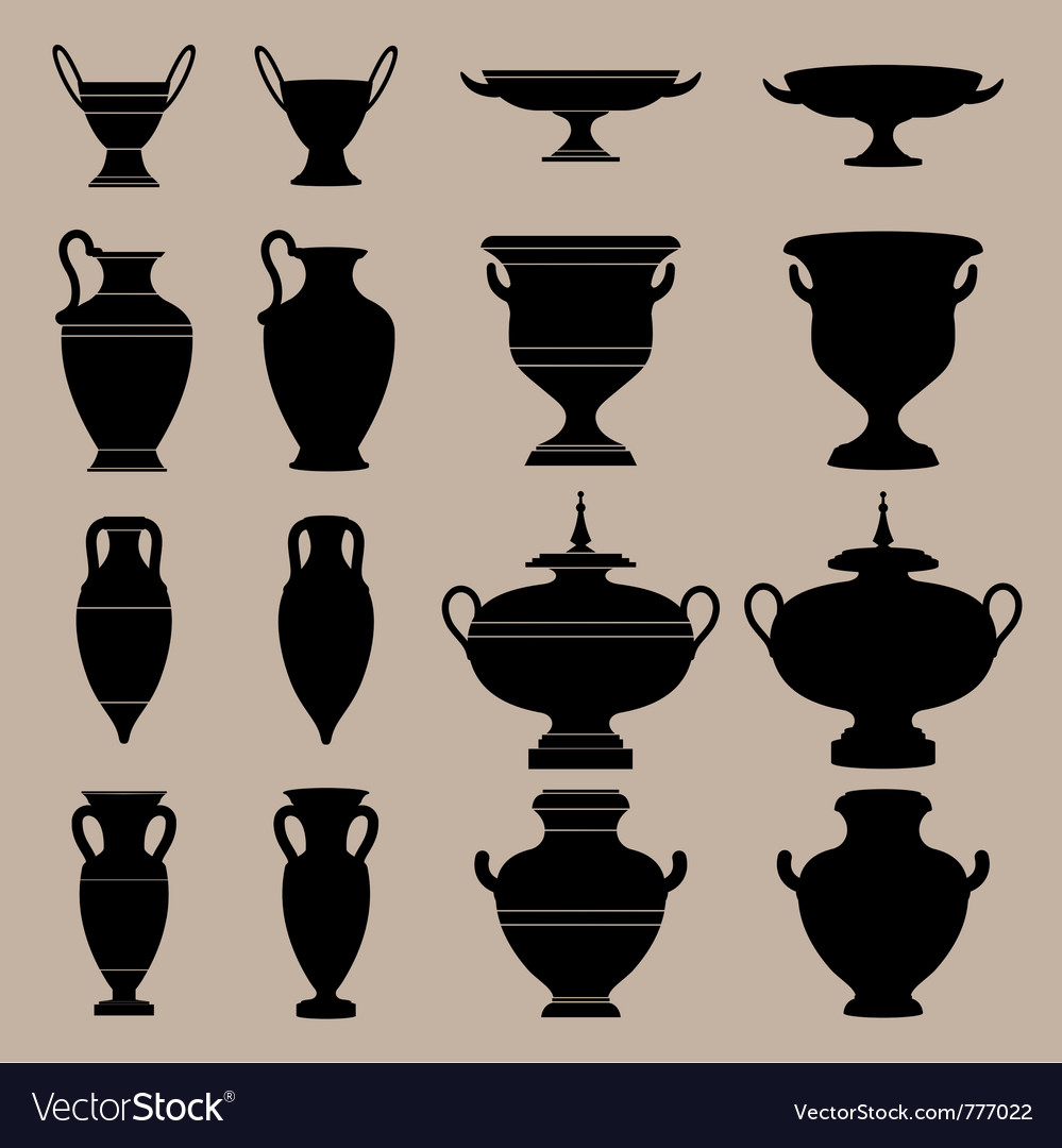 Antique vase vector | Price: 1 Credit (USD $1)