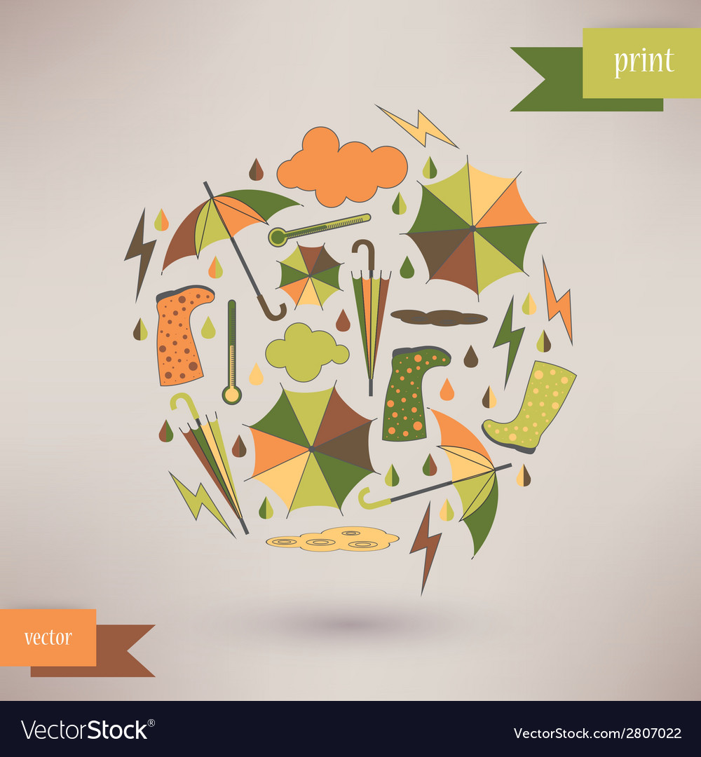 Autumn abstract background simple shapes and vector | Price: 1 Credit (USD $1)