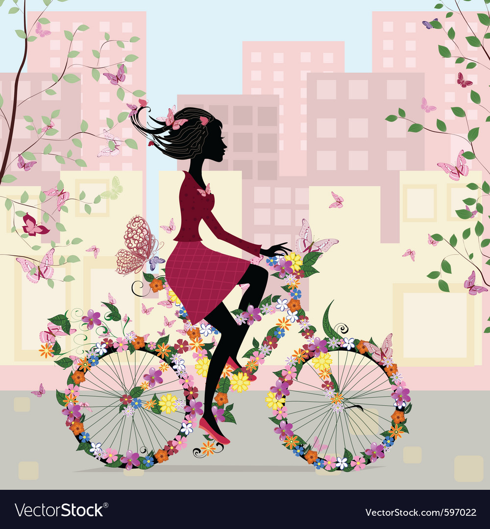 Bicycle in the city vector | Price: 1 Credit (USD $1)
