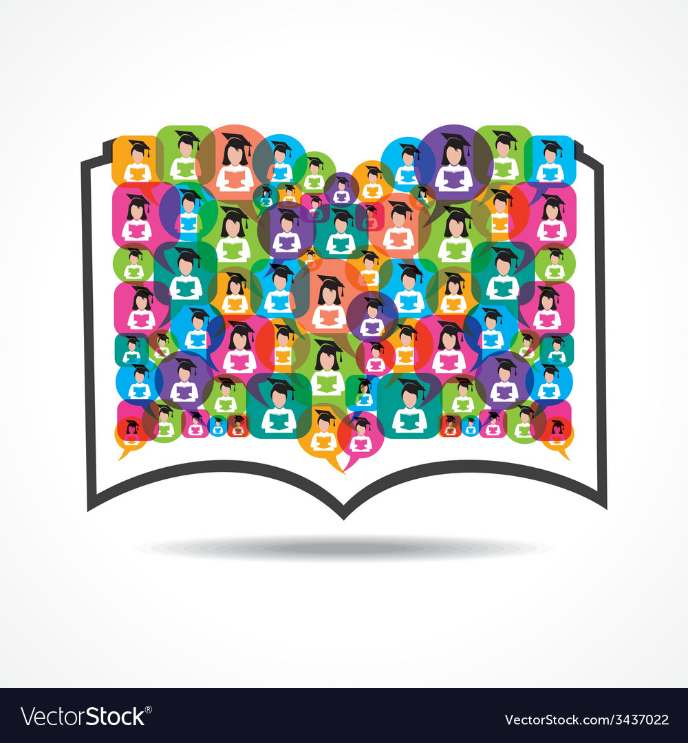 Book icon colorful graduate student icons vector | Price: 1 Credit (USD $1)
