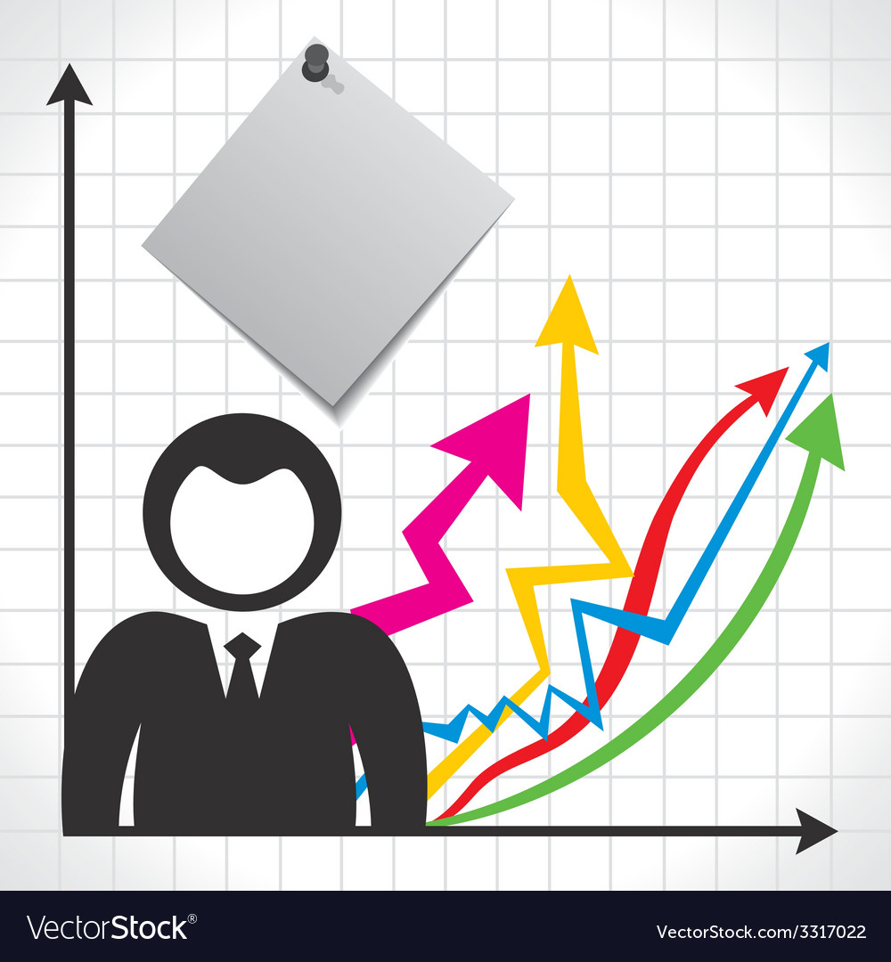Businessmen and background with market graph vector | Price: 1 Credit (USD $1)
