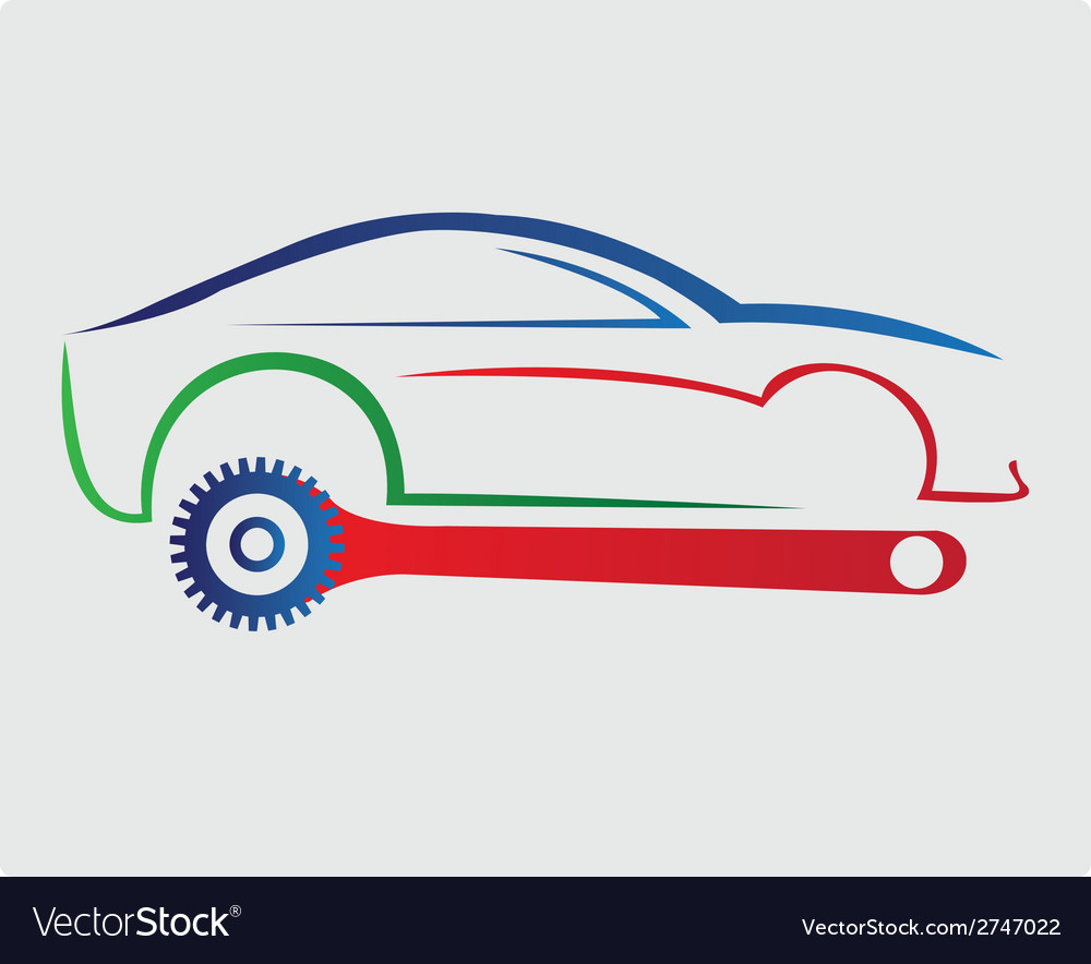 Car repair company logo vector | Price: 1 Credit (USD $1)