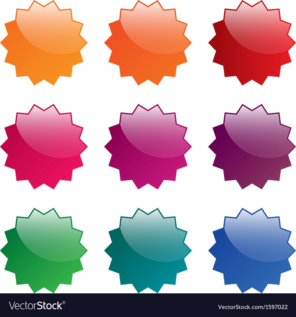 Colorful blank labels vector | Price: 1 Credit (USD $1)
