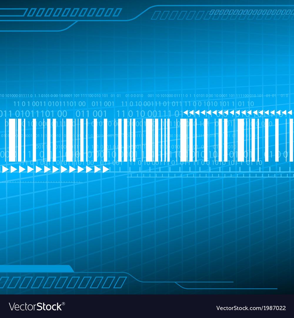 Digital blue background vector | Price: 1 Credit (USD $1)