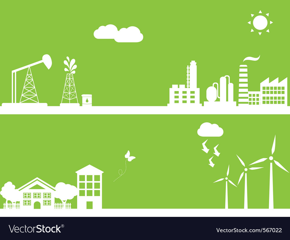 Ecology silhouette vector | Price: 1 Credit (USD $1)