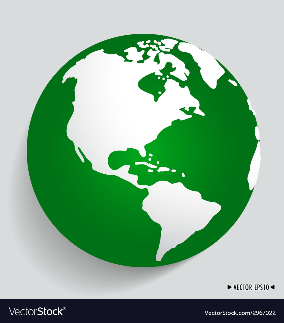 Modern green globe vector | Price: 1 Credit (USD $1)