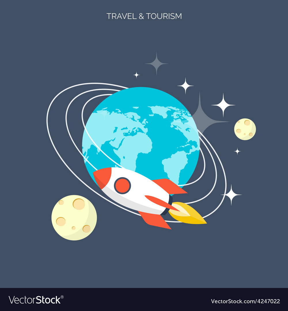 Rocket icon world travel concept background vector | Price: 1 Credit (USD $1)