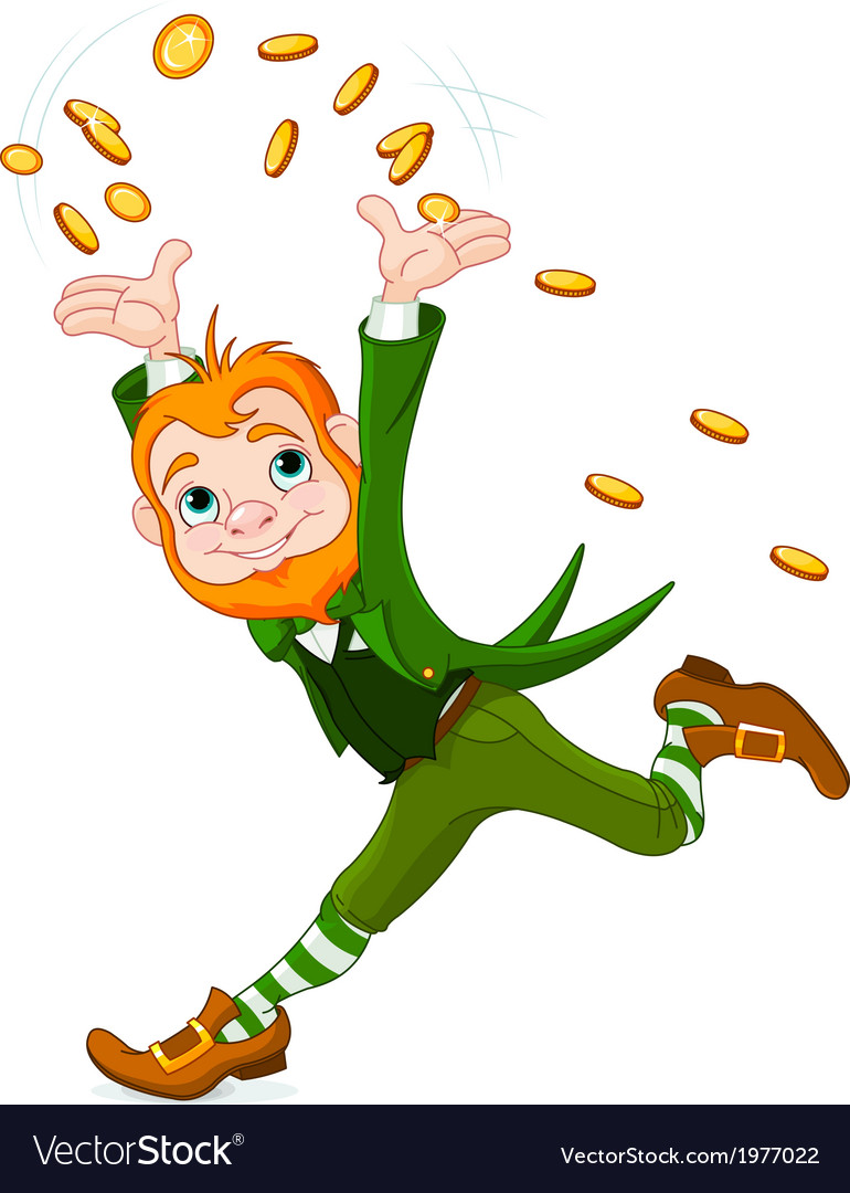 Running leprechaun vector | Price: 3 Credit (USD $3)