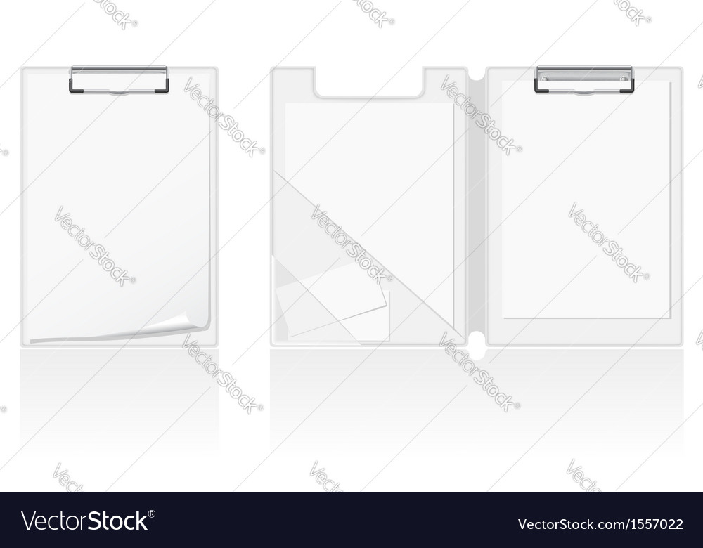 Set of white blank folder vector | Price: 1 Credit (USD $1)