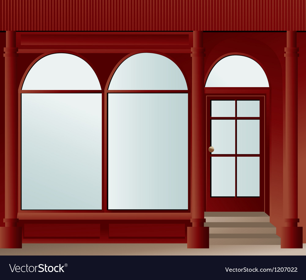 Shop window vector | Price: 1 Credit (USD $1)