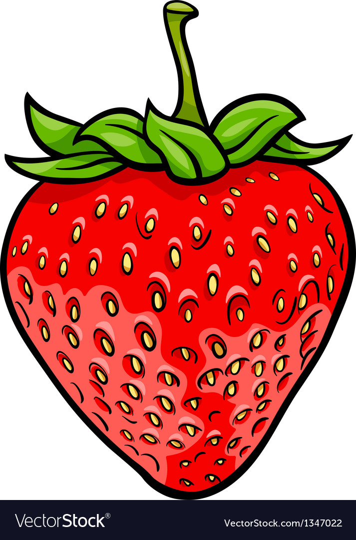 Strawberry fruit cartoon vector | Price: 1 Credit (USD $1)