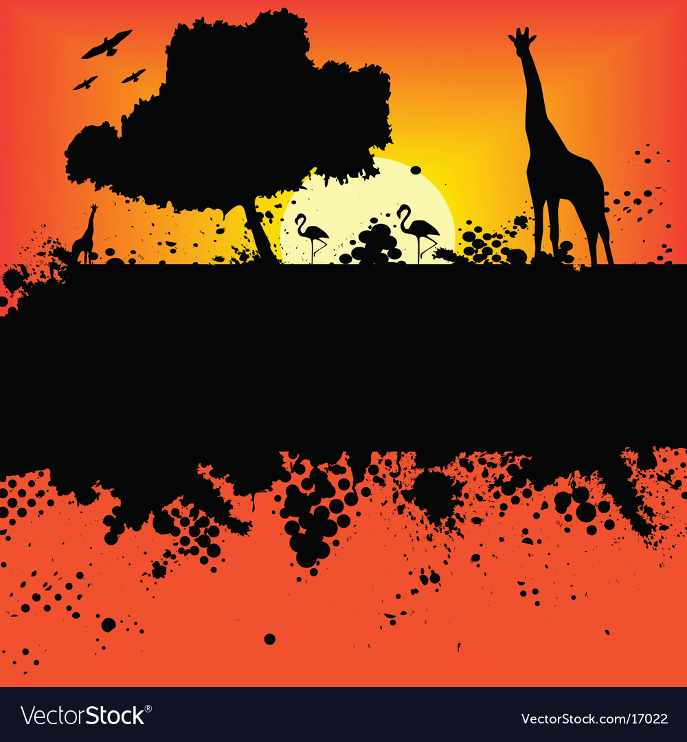 Wildlife safari design vector | Price: 1 Credit (USD $1)