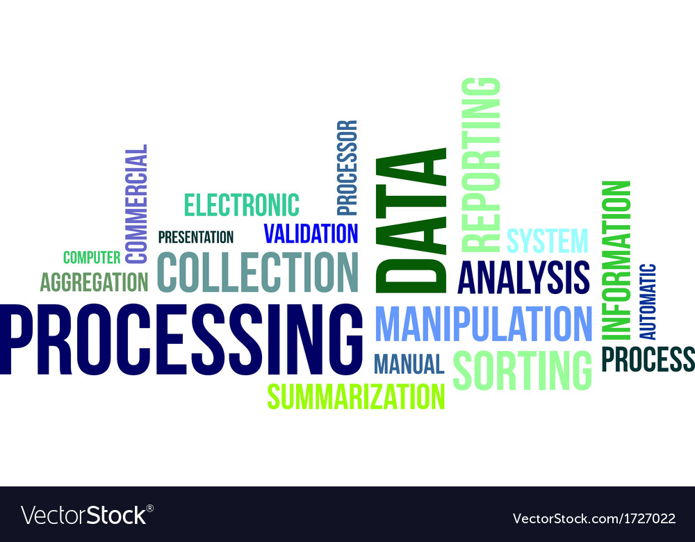 Word cloud data processing vector | Price: 1 Credit (USD $1)