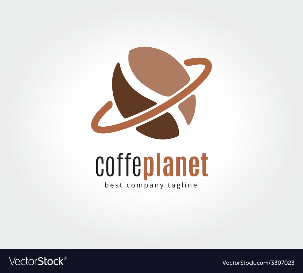 Abstract coffe bean logotype concept isolated on vector | Price: 1 Credit (USD $1)