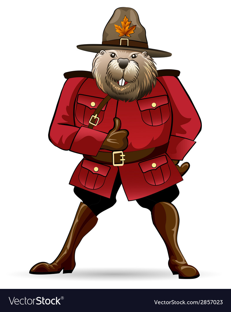 Beaver in canadian ranger suit vector | Price: 1 Credit (USD $1)