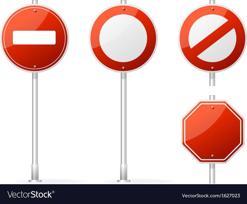 Blank traffic sign red vector | Price: 1 Credit (USD $1)
