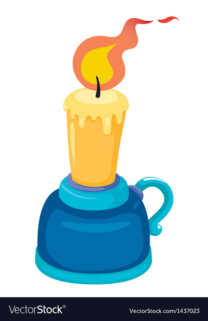 Candlestick with candle vector | Price: 1 Credit (USD $1)