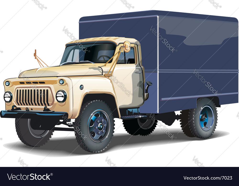 Cargo truck vector | Price: 5 Credit (USD $5)