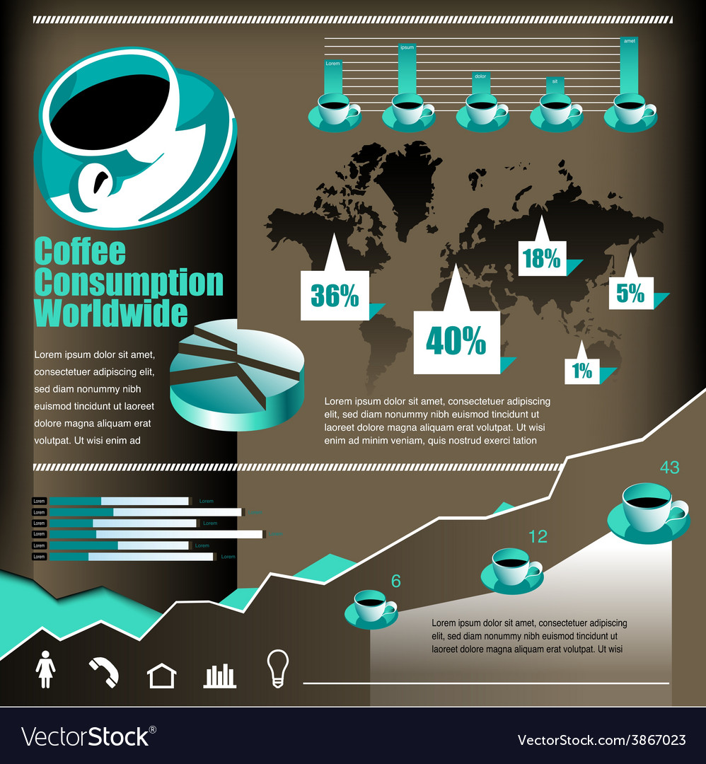 Coffee infographic 2 vector | Price: 1 Credit (USD $1)