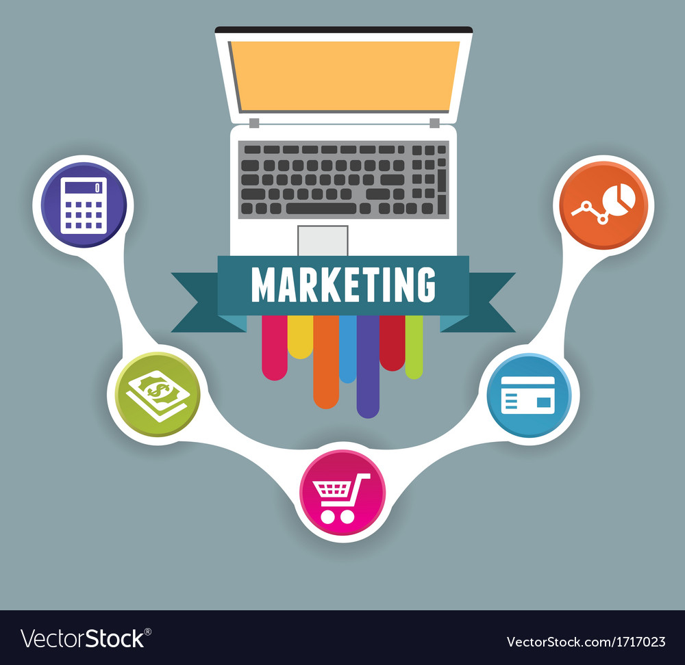 Concept of internet marketing vector | Price: 1 Credit (USD $1)