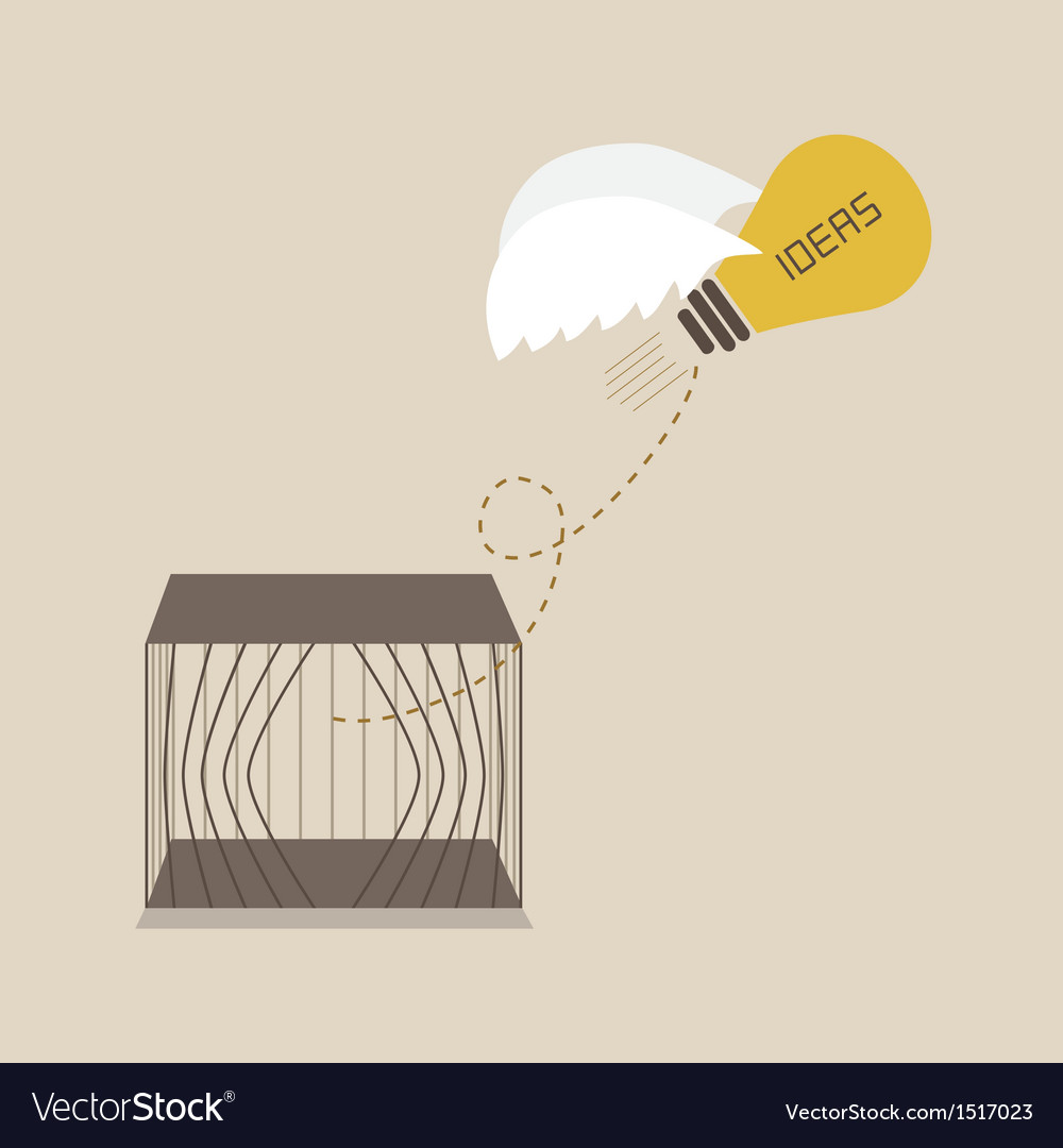 Idea escape form the cage vector | Price: 1 Credit (USD $1)