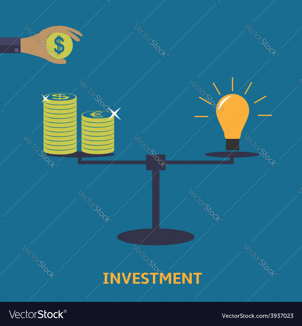 Investment finance icon vector | Price: 1 Credit (USD $1)
