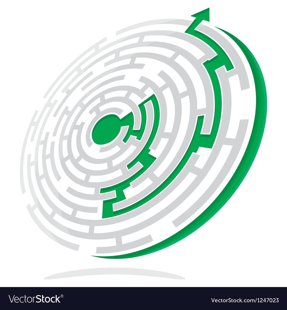 Maze solution vector | Price: 1 Credit (USD $1)