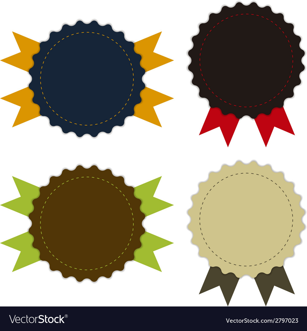 Medal fabric vintage promotions or qualities vector | Price: 1 Credit (USD $1)