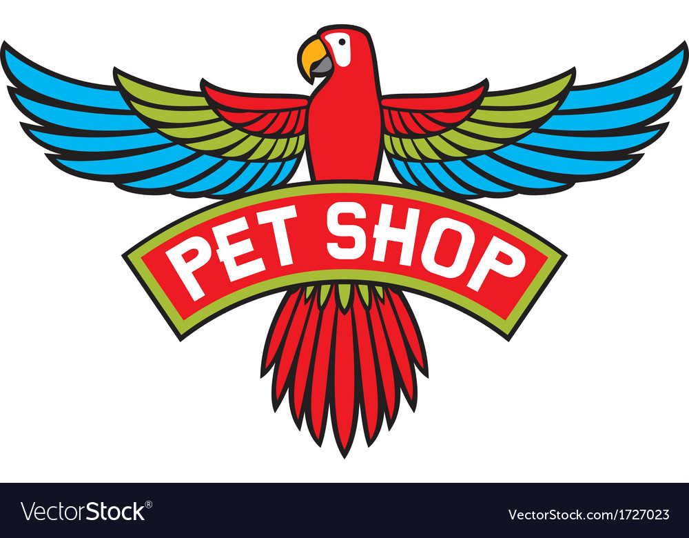 Pet shop label vector | Price: 1 Credit (USD $1)