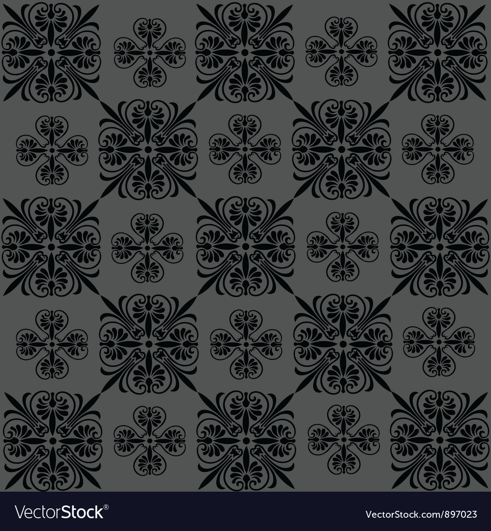 Seamless vintage wallpaper vector | Price: 1 Credit (USD $1)