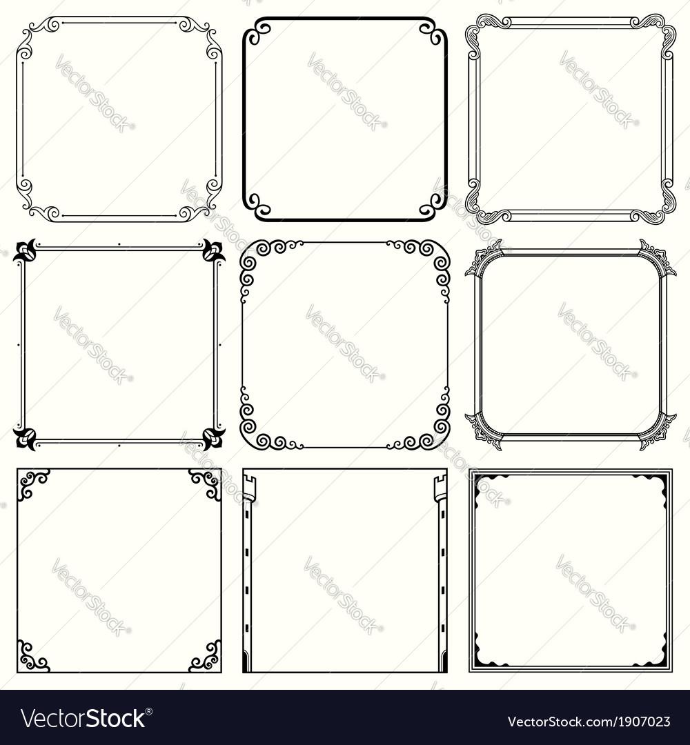 Set of frames vector | Price: 1 Credit (USD $1)