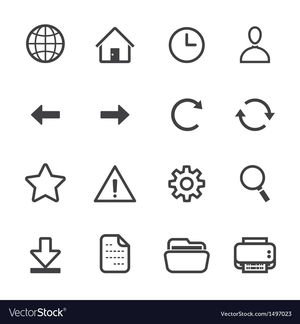 Website and toolbar icons vector | Price: 1 Credit (USD $1)