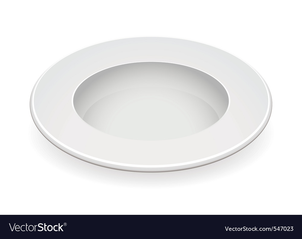 White china bowl vector | Price: 1 Credit (USD $1)