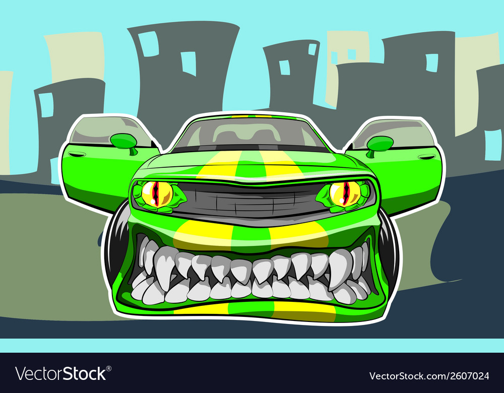 Angry car vector | Price: 3 Credit (USD $3)